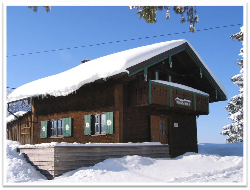 Die Skihütte im Winter