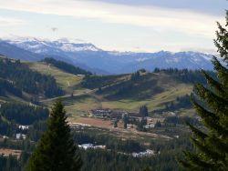 Blick Richtung Schweizer Berglandschaft und Hochhädrich